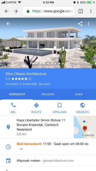 Google mijn bedrijf Bonaire